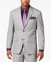 Sean John Men's Classic-Fit Black/White Plaid Suit Jacket