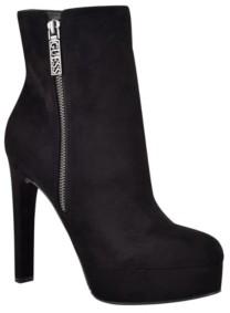GUESS Women's Dejah Platform Dress Bootie Women's Shoes