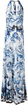 Roberto Cavalli printed v-neck dress