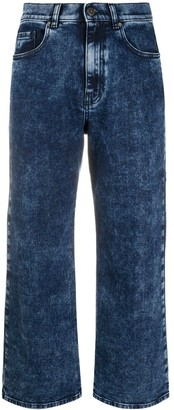 P.A.R.O.S.H. Cropped Stone Wash Jeans