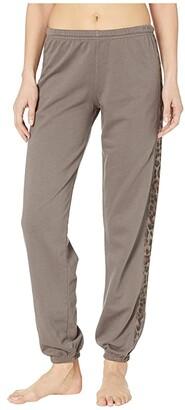Hard Tail OG Racer Stripe Pull-On Sweatpants (Twig) Women's Casual Pants