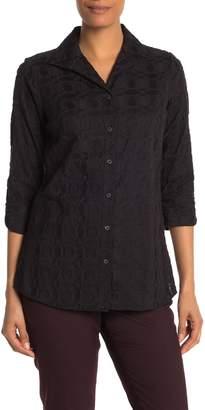 Foxcroft Dani 3/4 Length Sleeve Embroidered Shirt