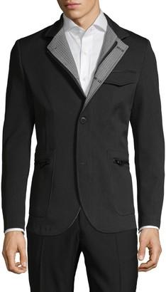 Rnt23 Standard-Fit Notch Lapel Sportcoat