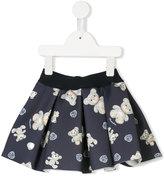 MonnaLisa teddy bear print skirt