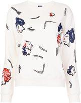 MSGM face print sweatshirt