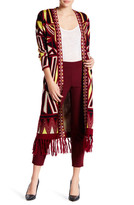 Romeo & Juliet Couture Printed Fringe Cardigan