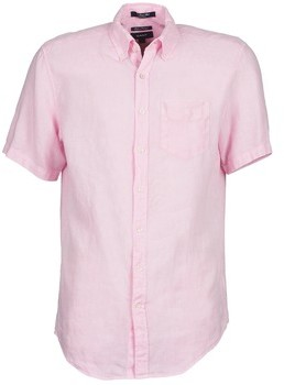 Gant THE LINEN SHIRT men's Short sleeved Shirt in Pink