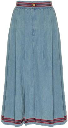Gucci Denim Midi Skirt