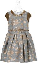 MonnaLisa floral embroidered dress - kids - Cotton/Acrylic/Polyamide/Wool - 2 yrs