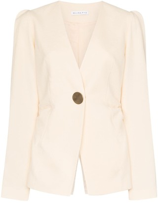 REJINA PYO Collarless Blazer Jacket