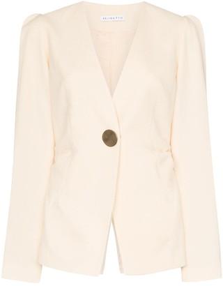 REJINA PYO collarless blazer jacket