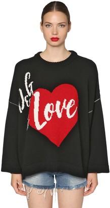 Dolce & Gabbana Oversize Intarsia Cashmere Blend Sweater