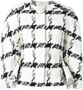 Alexander McQueen dogtooth jacket - women - Silk/Cotton/Linen/Flax/Viscose - 44