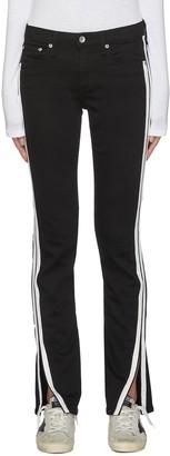 Rag & Bone/JEAN Cate Mr' side stripe flared slit leg jeans