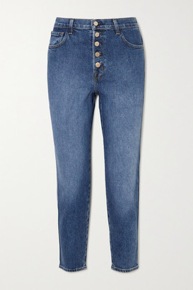 J Brand Heather High-rise Straight-leg Jeans - Mid denim