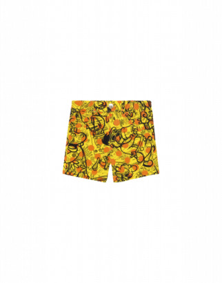 Moschino Yellow Pages Fleece Shorts Unisex Yellow Size 6/9m It