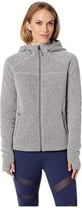 Smartwool Hudson Trail Full Zip Fleece Sweater (Light Gray) Women's Sweater