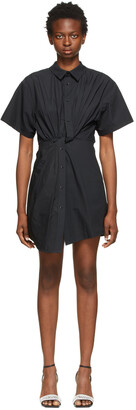 alexanderwang.t Black Twisted Placket Dress