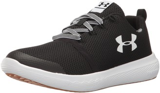 Under Armour Unisex-Child Grade School Charged Sneaker Black (001)/White 5