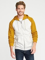 Old Navy Color-Blocked Fleece Zip Hoodie for Men