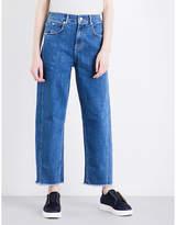 Whistles High-rise barrel-leg stretch-denim jeans