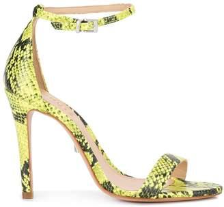 Schutz neon snake print sandals