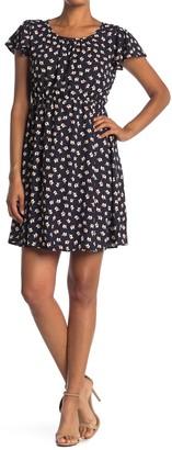 WEST KEI Elephant Printed Short Sleeve Dress