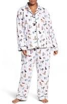 PJ Salvage Plus Size Women's Print Flannel Pajamas