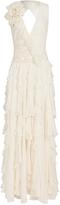 Matthew Williamson Poppy Waterfall Ruffle Gown