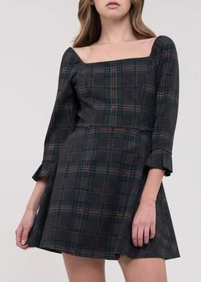 J.o.a. Plaid Fit & Flare Dress
