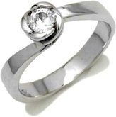 Tatitoto Engagement Women's Ring in 18k Gold with Cubic Zirconia, Size 7, 4.5 Grams
