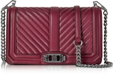 Rebecca Minkoff Beet Chevron Quilted Leather Love Crossbody Bag