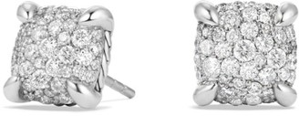 David Yurman Chatelaine Sterling Silver Stud Earrings with Diamonds
