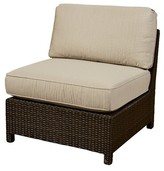 Wildon Home Armless Chair with Cushion Fabric: Canvas Air Blue