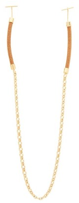 Chloé Corded Leather Glasses Chain - Womens - Gold