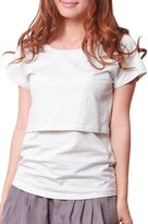 Sweet Mommy Basic Maternity and Nursing Tee Shirts -pk-M