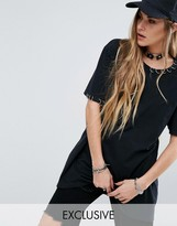 Reclaimed Vintage Inspired Oversized T-Shirt With Piercing Details
