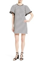 Kate Spade Women's Stripe Flutter Sleeve Dress