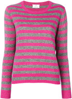 Allude striped glitter sweater