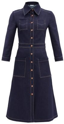Vika 2.0 - Cropped-sleeve Recycled-cotton Denim Dress - Denim
