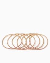 Charming charlie Dainty Stones Bracelet Set