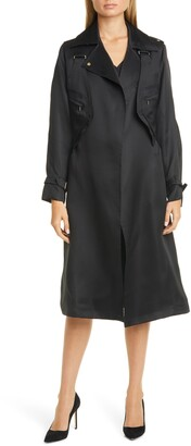 Max Mara Maesa Silk Trench Coat with Removable Vest