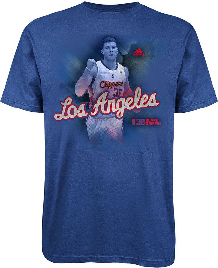 adidas NBA Shirt, LA Clippers Blake Griffin Fearless T-Shirt