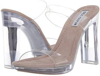 Steve Madden Glassy Heeled Sandal (Clear) Women's Sandals