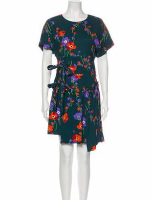No. 21 X Kartell Floral Print Knee-Length Dress Green