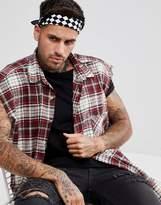 Asos Bandana In Checkerboard Design