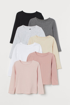 H&M 7-pack Long-sleeve Jersey Tops