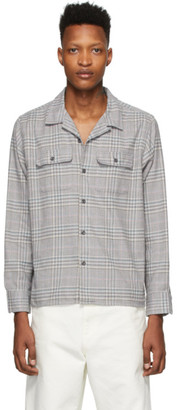 Noah NYC Grey Flannel Plaid Shirt