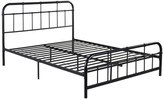 Gdfstudio GDF Studio Sylvia Industrial Queen Iron Bed Frame, Hammered Copper