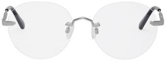 McQ Silver Rimless Circular Glasses